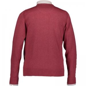 Uni pullover V-hals 4700 wijnrood