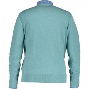 Uni pullover V-hals 3100 aqua