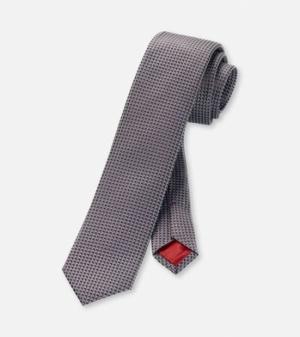 100% Zijde-Slim fit -6cm breed logo