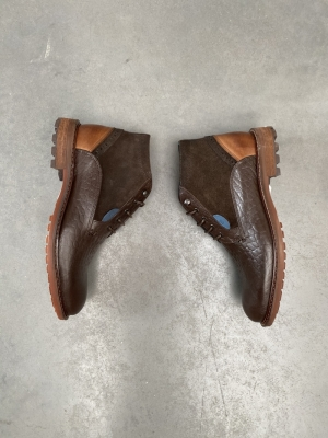 Boot croco+leder Brown