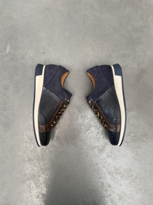 Sneaker+croco Navy