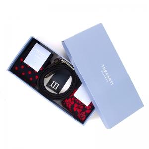 Geschenkbox riem+ 2 sokken Rood