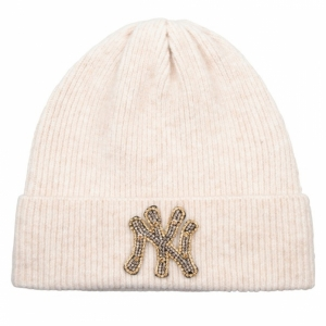 Beanie met NY patch Off white 120