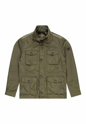 Outdoor jas met veel zakken logo